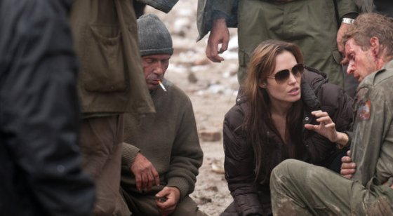 "Angelina Jolie directing on the set of ""In the Land of Blood and Honey,"" about the war in Bosnia. ©Dean Semler/FilmDistrict and GK Films"